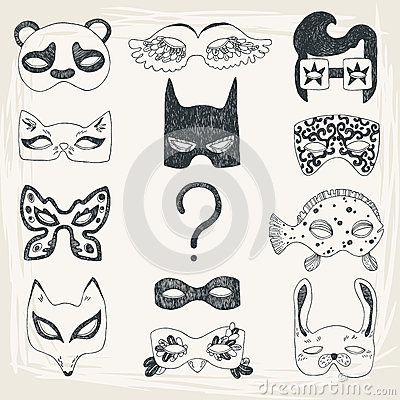 Free Masquerade Set Royalty Free Stock Photos - 30321558