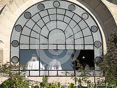 Mass in Dominus Flevit Church