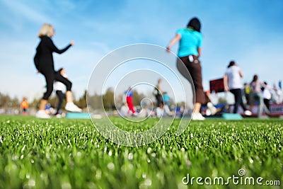 Mass fitness at stadium