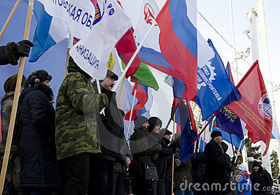Mass-meeting in Saratov Editorial Stock Photo