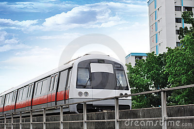 Mass Rapid Transit - Singapore MRT Train