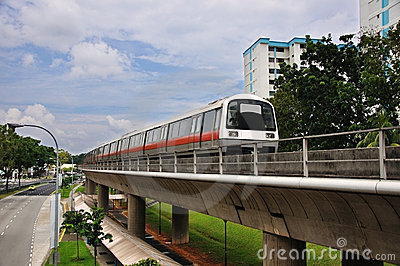 Mass Rapid Transit - Singapore MRT Train