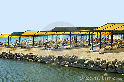 Mass tourism beach Turkey