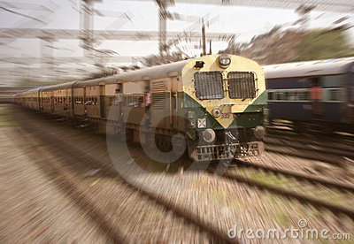 Mass Transit Commuter Railroad New Delhi India