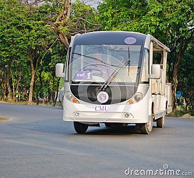 The Mass Transportation of Chiangmai university. Editorial Stock Photo