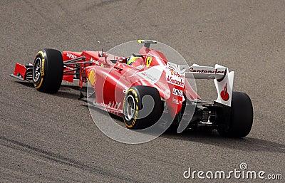 Massa of Ferrari racing in F1 on 20 April 2012 Editorial Stock Image