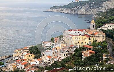 Massa Lubrense along the Amalfi Coast, Italy