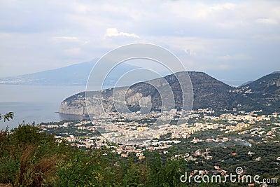 Massa Lubrense and Vesuvius, Italy