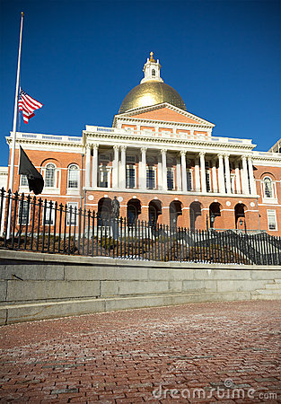 Massachusetts State House Editorial Image