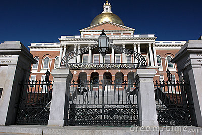Massachusetts state house gate