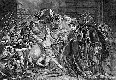 Massacre Wat Tyler de William Walworth Photographie éditorial