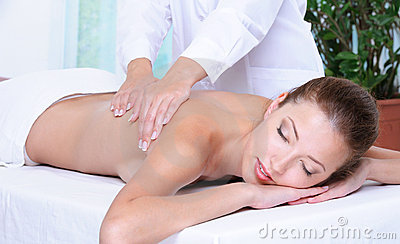 Massage for the beautiful pretty girl