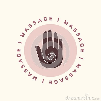 Massage and body care icon Vector Illustration