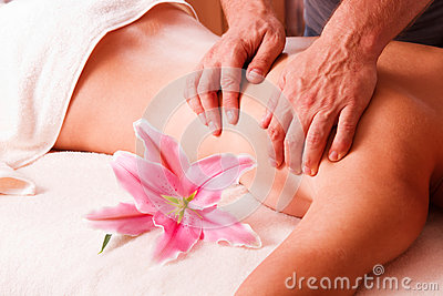 Massage body  women  in spa