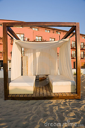 Massage cabana on beach