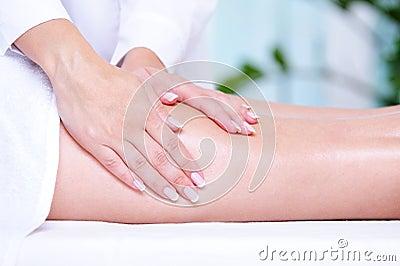 Massage of the female leg