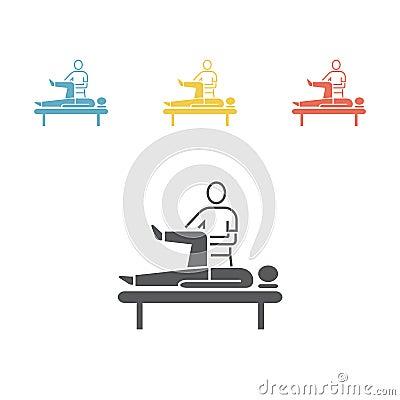 Massage Flat Icon. Vector Illustration
