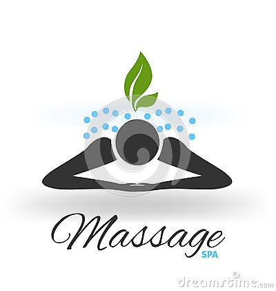 Massage green icon logo vector Vector Illustration