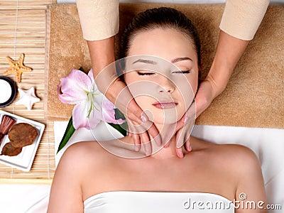 Massage for head in spa salon