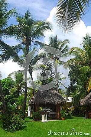 Massage hut in the Dominican Republic