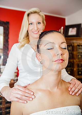 Massage on the Shoulder