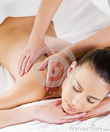 Massage on shoulder for woman