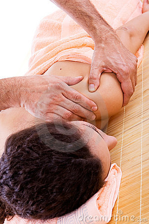Massage at a spa