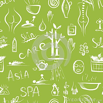 Massage and spa concept, seamless pattern for your