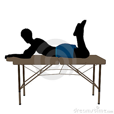 Massage Table Illustration Silhouette