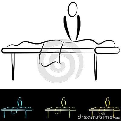 Massage Table Vector Illustration