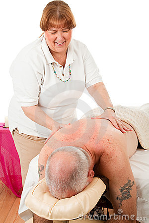 Massage Therapist Enjoys Work
