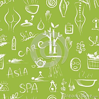 Massage und Badekurortkonzept, nahtloses Muster für Ihr