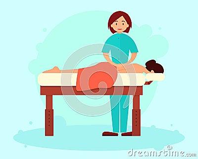 Massage Vector Illustration