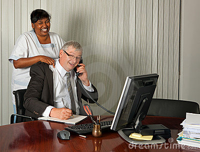 Massaging the boss