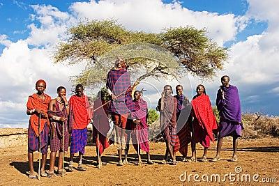 Massai Dance Editorial Image