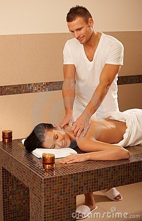 Masseur and client