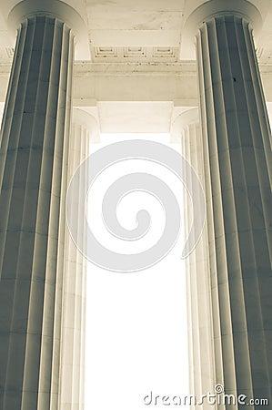 Massive architectural columns