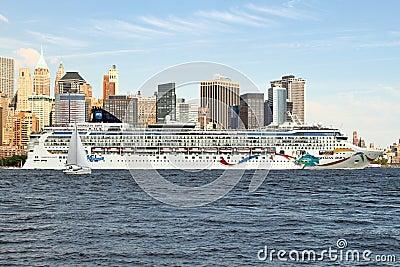 Massive Cruise Ship Editorial Photo