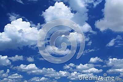 Massive cumulus clouds