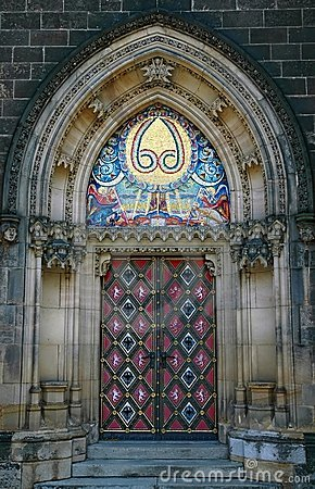 Massive gothic portal
