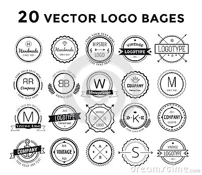 massive logo set bundle vector stock vector image 60476788
