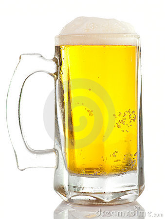Massive mug of cold golden beer