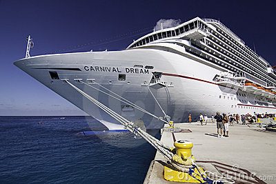 Massive New Cruise Ship - Carnival s Dream Editorial Photo