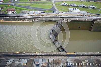 Massive Panama Canal lock