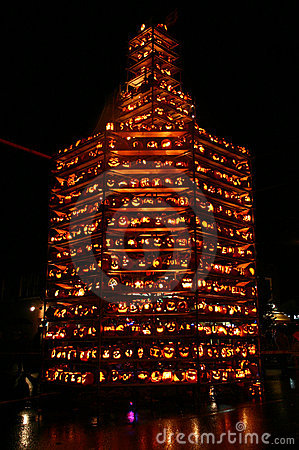 Massive Pumpkin Tower