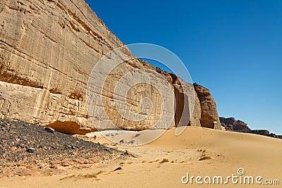 Massive Rock Wall, Akakus, Mountains, Sahara Libya