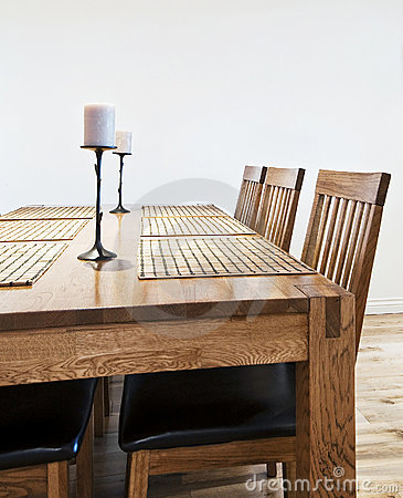 Massive wood dining table