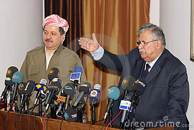 Massoud Barzani and Jalal Talabani Editorial Image
