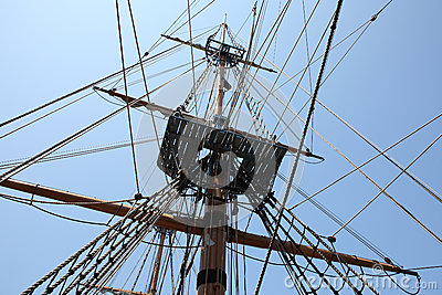 Mast and cable