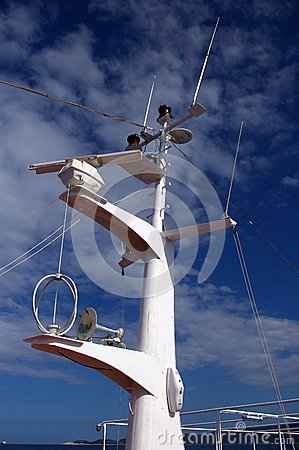 Mast of a cruse-ship.